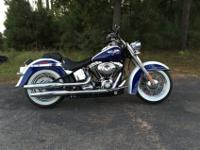 2007 Harley Davidson Softail Deluxe FLSTNWhite and Blue