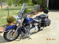 2007 Harley Davidson Heritage Softail Classic Cruiser.