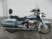 2007 Road King Rare Color Blue Suede / Vivid