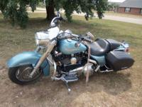 2007 Harley Davidson Road king Custom~suede blue