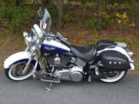2007 Harley Davidson Softail Deluxe with 25,176 miles.
