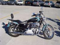Blue Pearl Sporty Super clean XL883 Sportster has a