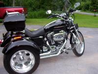 2007 Black Harley Sporster 1200   with