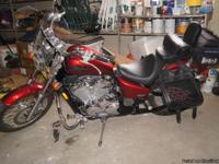 2007, honda 600 shadow VLX deluxe motercycle, loaded