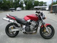2007 Honda 919 (CB900F) RED ONLY 7543 MILES 2 BROS