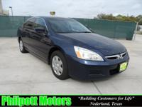 Options Included: N/A2007 Honda Accord, blue with gray
