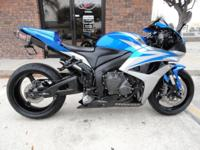 2007 Honda cbr600rr, Blue, Stretched And Lowered, Man