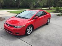 2007 Honda Civic EX Coupe. 86K Miles, Automatic, Red