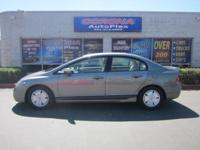 This is a lovely PEWTER 2007 HONDA CIVIC HYBRID 4 DOOR