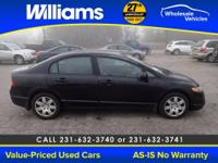 Options:  2007 Honda Civic Lx|Black|One Owner- Easy