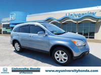 Clean CARFAX. SILVER 2007 Honda CR-V EX-L FWD 5-Speed