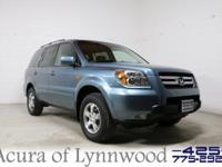 2007 Honda Pilot EX-L. Leather, Moonroof, Power seat,