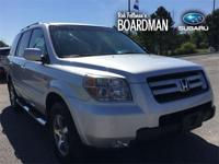 Silver 2007 Honda Pilot EX-L 4WD 5-Speed Automatic with