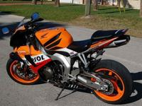 2007 CBR 1000RR Repsol edition. I purchased this bike