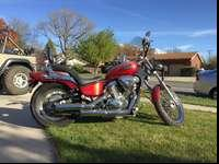 Red 2007 Custom Honda Shadow 600 for sale. Great bike,