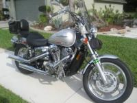 2007 HONDA SHADOW VT1100C Spirit  Silver with carbon