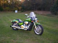 Bike has hard chrome sideburner exhaust, carb jet kit,