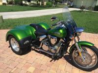 2007 HONDA VTX Trike 1300 Beautiful Kelly GreenFor a