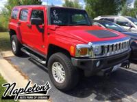 Recent Arrival! 2007 Hummer H3 in Red, ABS brakes,