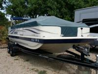 2007 Hurricane 226 CC. This 22 foot deck boat is a hard