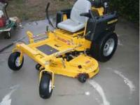 "2007 hustler mini z commercial lawn mower, 52"" cut,"