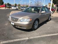 Gold 2007 Hyundai Azera 4D Sedan FWD 5-Speed Automatic