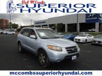 Safe and reliable, this Used 2007 Hyundai Santa Fe GLS