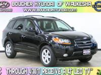 Clean CARFAX 1-Owner  Ebony Black 2007 Hyundai Santa Fe