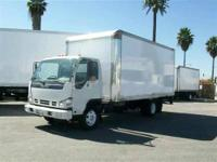 2007 Isuzu NPR HD with a 16' van body. Mileage is