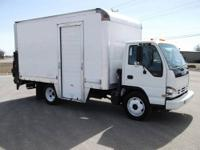 This 2007 Isuzu Nqr has a 14 foot box with a oxygen