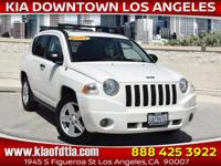 New Price! Clean CARFAX. White 2007 Jeep Compass Sport