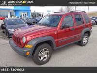This Jeep includes: 3.7L V6 ENGINE (STD) Gasoline Fuel