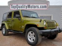 + COOL FOUR DOOR SAHARA UNLIMITED + CARFAX CLEAN TITLE