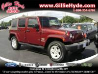 WOW! Check out this Gorgeous 4 Door Wrangler! This Drop
