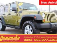 This 2007 Jeep Wrangler Unlimited X in Rescue Green