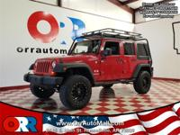 2007 Jeep Wrangler Unlimited X Red   Reviews:    *