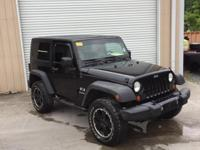 Black 2007 Jeep Wrangler X 4WD 6-Speed Manual 3.8L V6