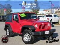 4WD, LOW MILEAGE, SOFT TOP! This great 2007 Jeep