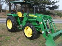 LIKE NEW   2007 JOHN DEERE 5045E 4 X 4 LOADER TRACTOR,