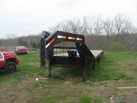 FOR SALE 07 KAUFMAN 40' GOOSENECK TRAILER, WITH BRAKES,