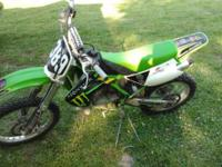 2007 kx 100 runs great, new rear tire, new brakes, and