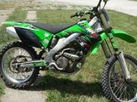 You are looking at a 2007 Kawasaki KX250F with clean &