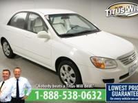 2007 Kia Spectra White, Completely inspected and