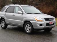 2007 Kia Sportage EX Steel Silver, MP3, Keyless Entry,
