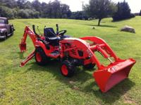 BX24 kubota with backhoe Great working condition with