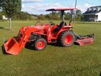 2007 Kubota L3400 4x4 it is a 35hp and comes with front