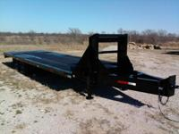 "2007 LAMAR Flatbed Cargo Equipment Trailer, 102"" wide x"