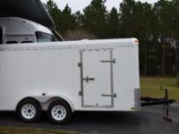 Lark manufacturing 14' confined trailer with side door