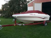2007 Larson 180 Sport with just over 10 hours on the