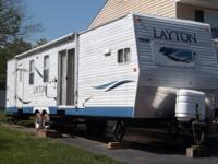 2007 Layton 38' 2 bedroom travel trailer/park model for
